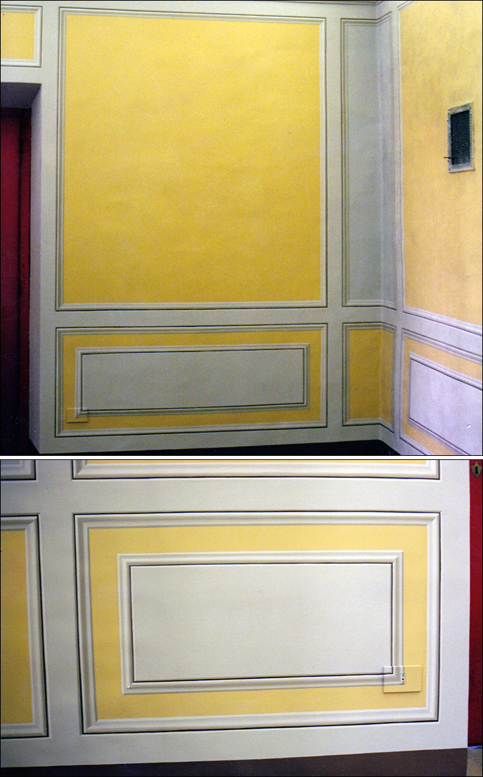 3D - three-dimensional wall paintings - Rosa decorazioni - Luxury painted ceilings - Vatican City.